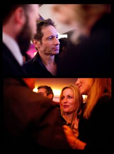 """I don't know if you know this, but Gillian's an accomplished stage actor. She came all the way from London just to see this. I'm very touched by that."" David Duchovny, Vulture, Nov 2010 (x)"