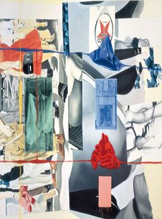 David Salle - Picture Builder 1993 Acrylic and oil on canvas