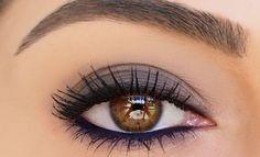 Ombre fumée pour yeux marron #maquillage #yeux #brun #beauté