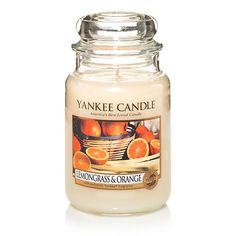 The sharp, tart focus of lemon merges with the sparkling effervescence of orange - energizing. Scented Candles, Yankee Candles, Candle Jars, Candle Lit, Home Scents, Home Fragrances, Scent Warmers, My Yankees, Holiday Candles