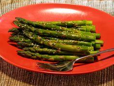 Sesame Asparagus - Click here for a high resolution   photo
