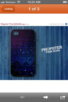 Galaxy iPhone case on etsy :)