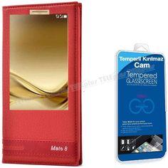 Huawei Mate 8 Yeni Pencereli Kılıf Kırmızı + Kırılmaz Cam -  - Price : TL34.90. Buy now at http://www.teleplus.com.tr/index.php/huawei-mate-8-yeni-pencereli-kilif-kirmizi-kirilmaz-cam.html