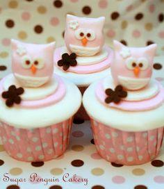 owl cupcake set