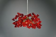 Ceiling lighting Red color jumping  flowers , Romantic hanging pendant light for hall, bedroom. by yehudalight on Etsy https://www.etsy.com/listing/157907907/ceiling-lighting-red-color-jumping