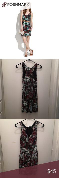 Madewell silk island dress in jungle print Worn once. Madewell silk island dress. Fits true to size. Make me an offer! Madewell Dresses