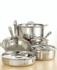 All-Clad Copper Core Cookware, 10-Piece Set - Cookware. Good cookware.