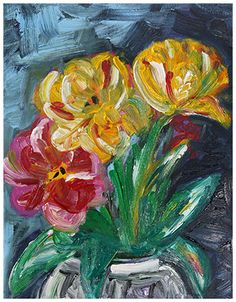 March Tulips, 2015 (acrylics on canvas)
