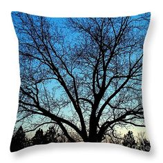 "Blue Sky at Night 14"" x 14"" Throw Pillow by Sue Melvin.  Our throw pillows are made from 100% cotton fabric and add a stylish statement to any room.  Pillows are available in sizes from 14"" x 14"" up to 26"" x 26"".  Each pillow is printed on both sides (same image) and includes a concealed zipper and removable insert (if selected) for easy cleaning."