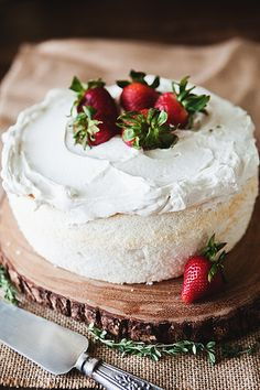 angel food cake // the little red house by the little red house, via Flickr
