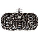 Marchesa Hematite Embroidered Clutch