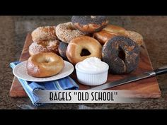 """Bagels """"Old School"""" – Hand Shaped, Boiled, and Hearth Baked   Just One Bite, Please?"""