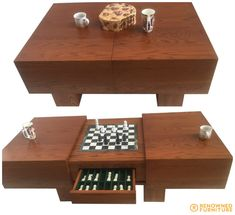 Custom Made Furniture, Chess Sets, Sons, Husband, Coffee, Table, Crafts, Design, Home Decor