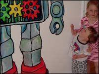 Roberta Wood - Robot Mural