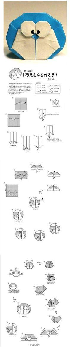 origami: doraemon.