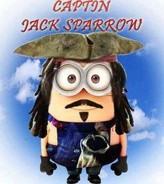 OMG someone did a Jack Sparrow minion lol!!!