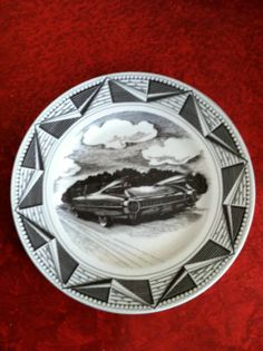 """Slice of Life """"1959 Cadillac"""" Dinner Plate"""