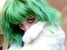 green hair?