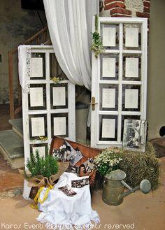 Tableau matrimonio country chic | Wedding designer & planner Monia Re - www.moniare.com | Organizzazione e pianificazione Kairòs Eventi -www.kairoseventi.it