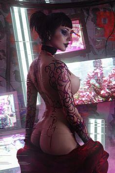 ArtStation - The Witness, Aku 悪 Cyberpunk Girl, Cyberpunk Character, Cyberpunk Fashion, Cyberpunk 2077, Neon Photography, Japanese Photography, Cyborg Girl, Tumblr, Street Photographers