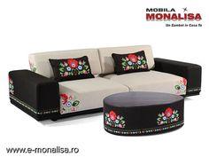 Canapea brodata extensibila Pannonia Sofa, Couch, Modern, Table, Furniture, Home Decor, Living, Boutique, Homemade Home Decor