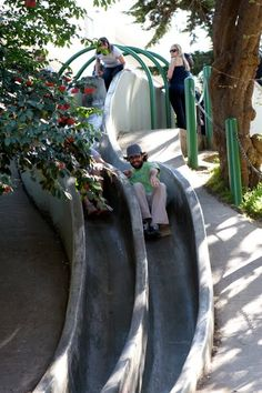 Seward Street Slides, San Francisco....a must do while in san fran! a hidden treasure that is so much fun!