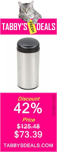 Nine Stars DZT-49-8 Touchless Stainless Steel 13 Gallon Trash Can $73.39