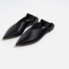 LEATHER BABOUCHES-Collection-TRF-NEW IN | ZARA Israel