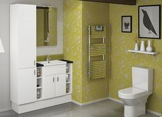 Great Ideas for Family Bathrooms - In family bathrooms it can be difficult to maintain a sense of style, whilst also keeping things child friendly.  Atlanta's range of attractive storage options allows you to have an on trend bathroom that is also tidy and organised.