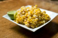 Roasted Corn with Lime, Parmesan and Chili by merrill: Creamy, tangy, spicy and sweet. #Corn #food52 by jill