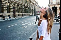 girl, hair, and street image