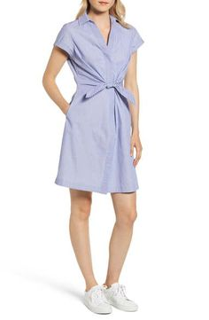 Find and compare vineyard vines Tie Front Mix Stripe Cotton Dress across the world's largest fashion stores! Nantucket Massachusetts, Casual Dresses, Dresses For Work, The Chic, Vineyard Vines, Cotton Dresses, Everything, What To Wear, Wrap Dress