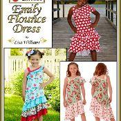 Emily Flounce Dress: Size 2-16 w/slimfit - via @Craftsy