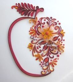 quilled apple
