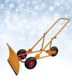 #Schneeschieber #Schneeschild, Schnee räumen #Winterdienst von #HEIBI Snow Shovel With Wheels, Welding Projects, Projects To Try, Farm Layout, Diy Go Kart, Goat Barn, Tools And Toys, Metal Tools, Homemade Tools