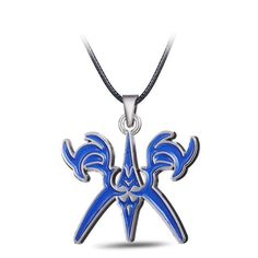Fate Stay Night Blue Logo Metal Alloy Necklace
