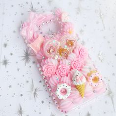 Galaxy S6 Edge Neko Kuma Decoden Case by PastelDreamz on Etsy