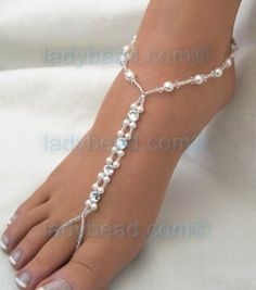 Pretty Beaded Work for my foot jewelry