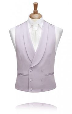 Dove Grey, Double Breasted Morning Suit Waistcoat by Torre Morning Suits, Morning Dress, Waistcoat Men, Vest Men, Tweed Wedding Suits, Dress Codes, Mens Suits, Double Breasted, Men Dress