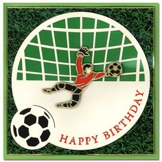 soccer  end of season cards | doodey handmade craft soccer card happy birthday