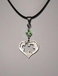autism awareness pendant  autism a piece of my by SolvingThePuzzle, $20.00