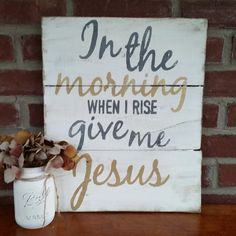"""This reclaimed wood sign is approx. 13x12"""". Antique White paint with Grey and Gold lettering. Distressed. Hanger included. All of my signs are handmade so they vary slightly. Please allow 2 weeks for"""