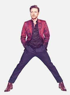 James McAvoy - now that's what I call a power stance.