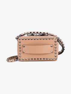 Valentino Nude Leather Rockstud East West bag