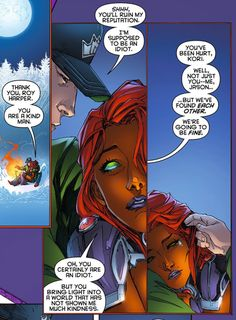 Starfire, Roy Harper / Arsenal & Jason Todd - Red Hood and the Outlaws - I love that they are such a band of misfits Young Justice, Arsenal, Redhood And The Outlaws, Red Hood Jason Todd, Roy Harper, Univers Dc, Dc Memes, Nightwing, Marvel Dc Comics