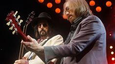 Mike Campbell, left, and Tom Petty of Tom Petty & the Heartbreakers perform at Wells Fargo Center in