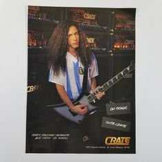 1996 Marty Friedman Megadeth Blue Voodoo Crate Print Ad