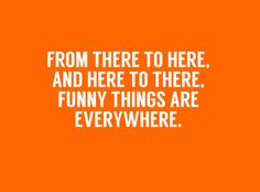Dr.Seuss Quotes - Funny things are everywhere.