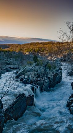 Had to wake up in the early cold morning to get this but it was worth it I think. Great Falls sunrise on the Maryland side. [21003797] [OC] #reddit