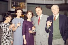 Claudia Grant as Carole-Ann Ford, Jemma Powell as Jacqueline Hill, Jessica Raine as Verity Lambert, Jamie Glover as William Russell and David Bradley as William Hartnell Jacqueline Hill, William Hartnell, Classic Doctor Who, Mark Gatiss, First Doctor, Best Dramas, Time Lords, Dr Who, 50th Anniversary